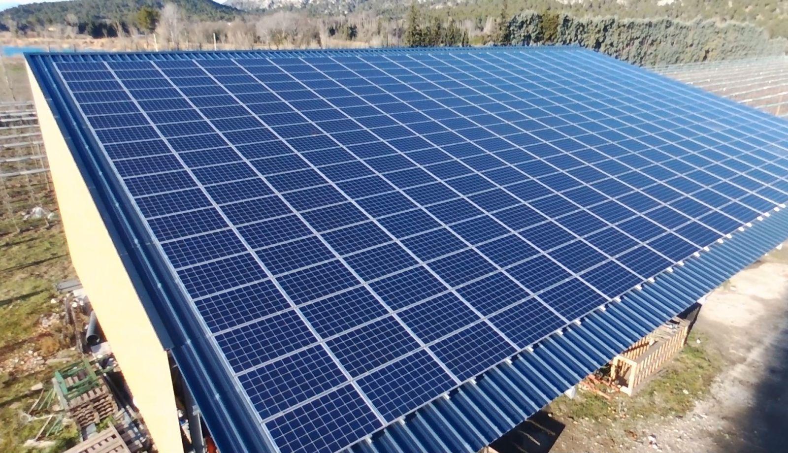 R alisation d 39 un batiment avec toiture photovolta que - Hangar gratuit avec toiture photovoltaique ...