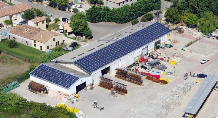 disposition panneau solaire au sol