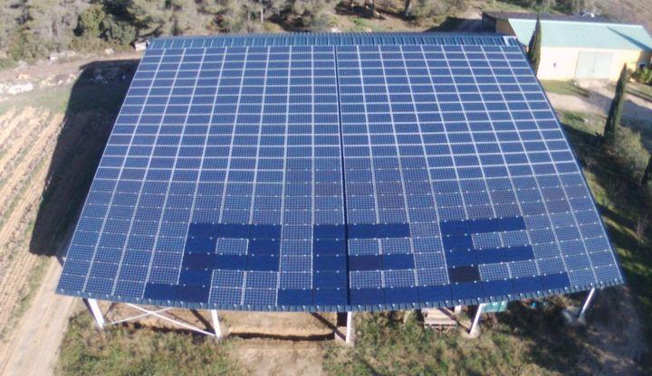 Centrale photovolta que au sol h rault 34 provence eco - Hangar gratuit avec toiture photovoltaique ...